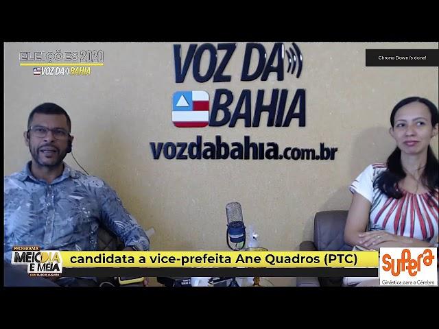 Meio-dia e meia live Ane Quadros (PTC) candidata a vice-prefeita em SAJ