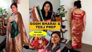 Godh Bharai \u0026 Hariyali Teej Preparations | Sharing a Good News | Green Saree Look for Teej