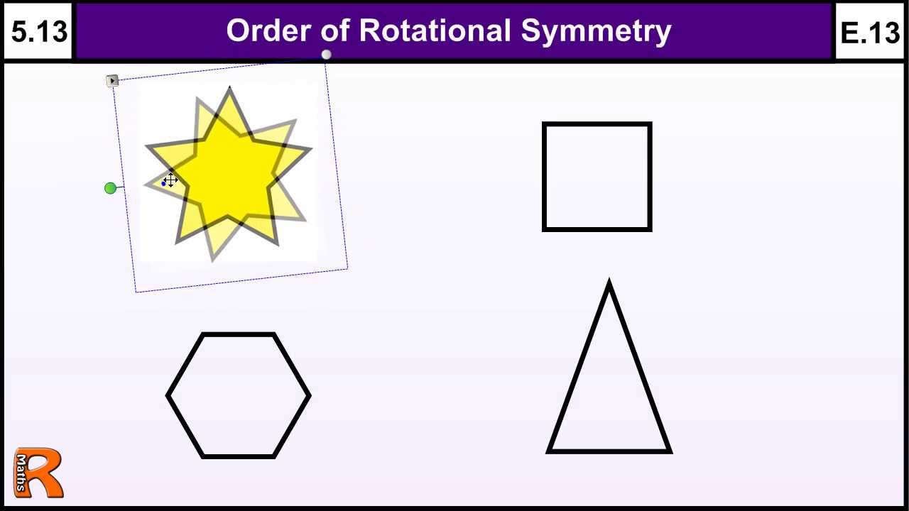 5.13 Order of Rotational Symmetry - Basic Maths GCSE Core Skills ...