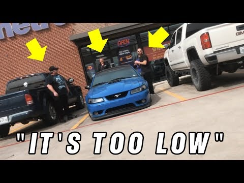 They tried towing my BAGGED Mach 1 - Mustang broke at Gas Station