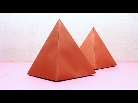 Paper Pyramid | Easy Seamless Egyptian Pyramid Making With Color Paper | Very Easy DIY Craft
