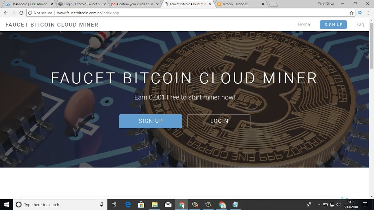 Legit !! Free Bitcoin Faucet And Mining - Free 0.001 Sign up bonus - claim 1 Minutes