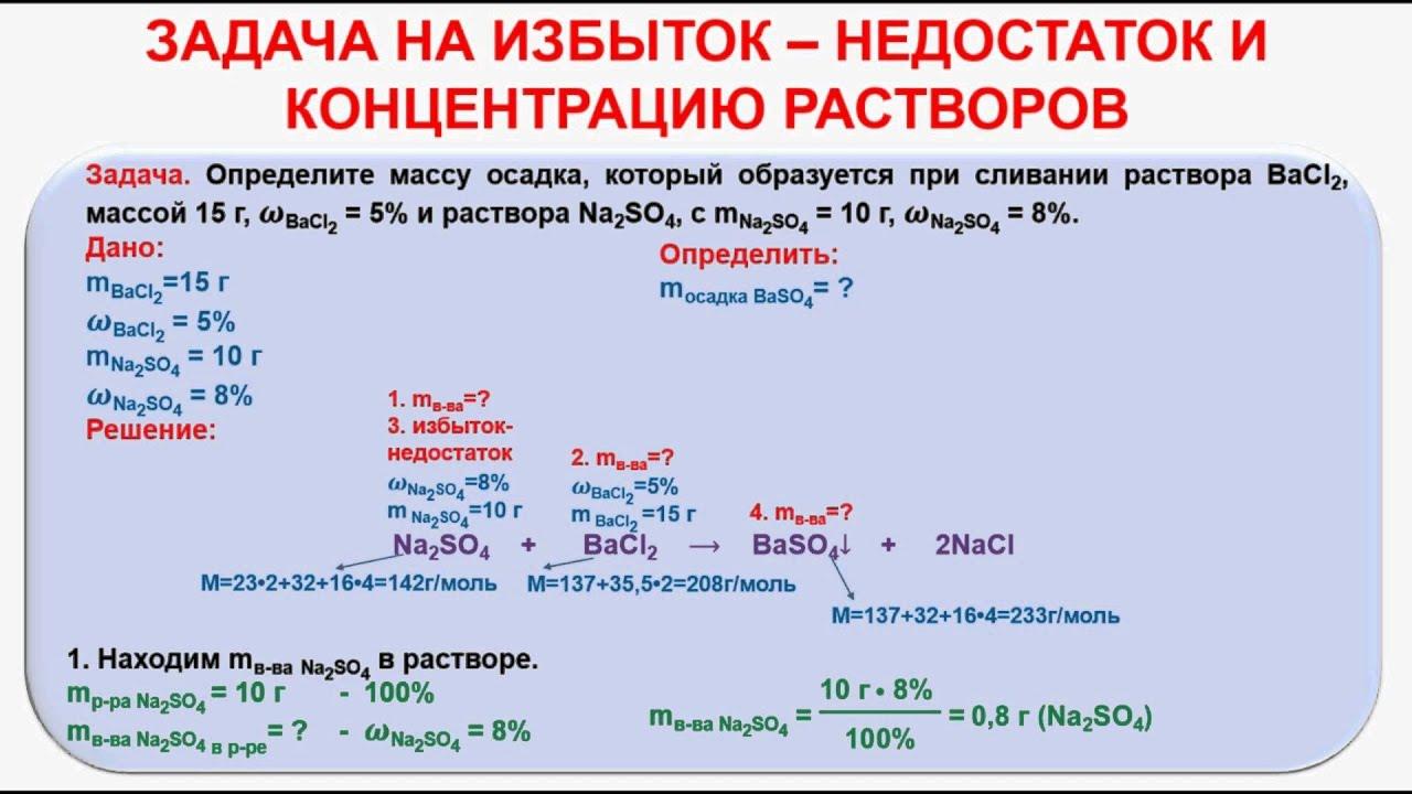 11 класс химия как решать задачи растворы