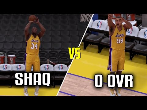CAN SHAQ BEAT A 0 OVERALL PLAYER IN A THREE POINT CONTEST? NBA 2K17!