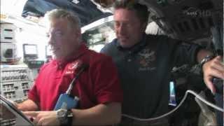 STS-134 Endevour - Inspecting Tile Damage
