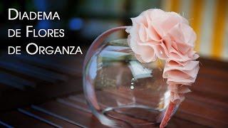 Diadema, Broche o Clip de Flores de Organza  para Fiesta y Diario