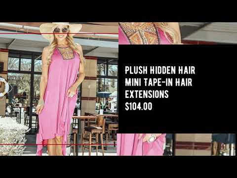 Plush's New Mini Tape in Hair Extensions