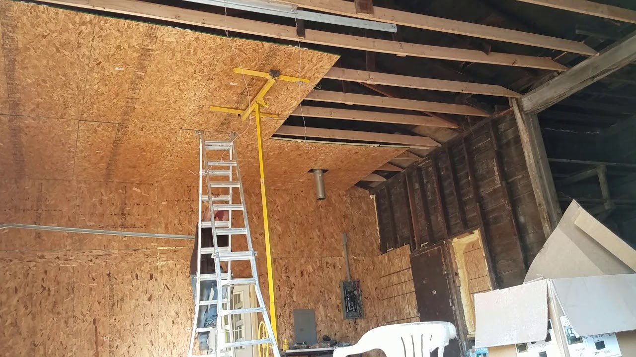 Replacing garage ceiling  YouTube