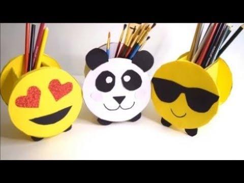 Membuat kotak pensil emoji keren dari kardus bekas | ide kreatif