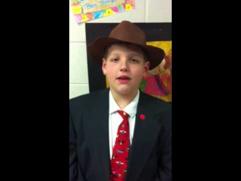 Tommy as Ben Tillman at his wax museum