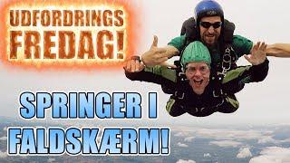 Udfordrings-fredag - Springer i faldskærm!