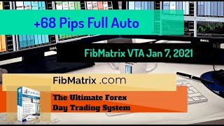 +68 Pips Overnight Auto Trades – Jan 7 2021 – FibMatrix Automated Forex Day Trading Software