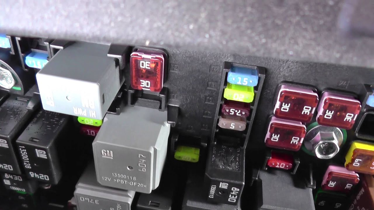 Vauxhall Insignia Fuse Boxes Locations