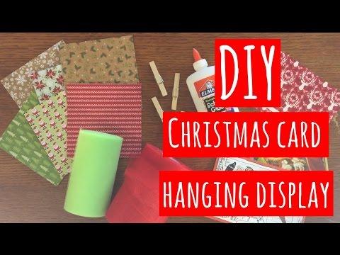 Diy Christmas Card Hanging Display