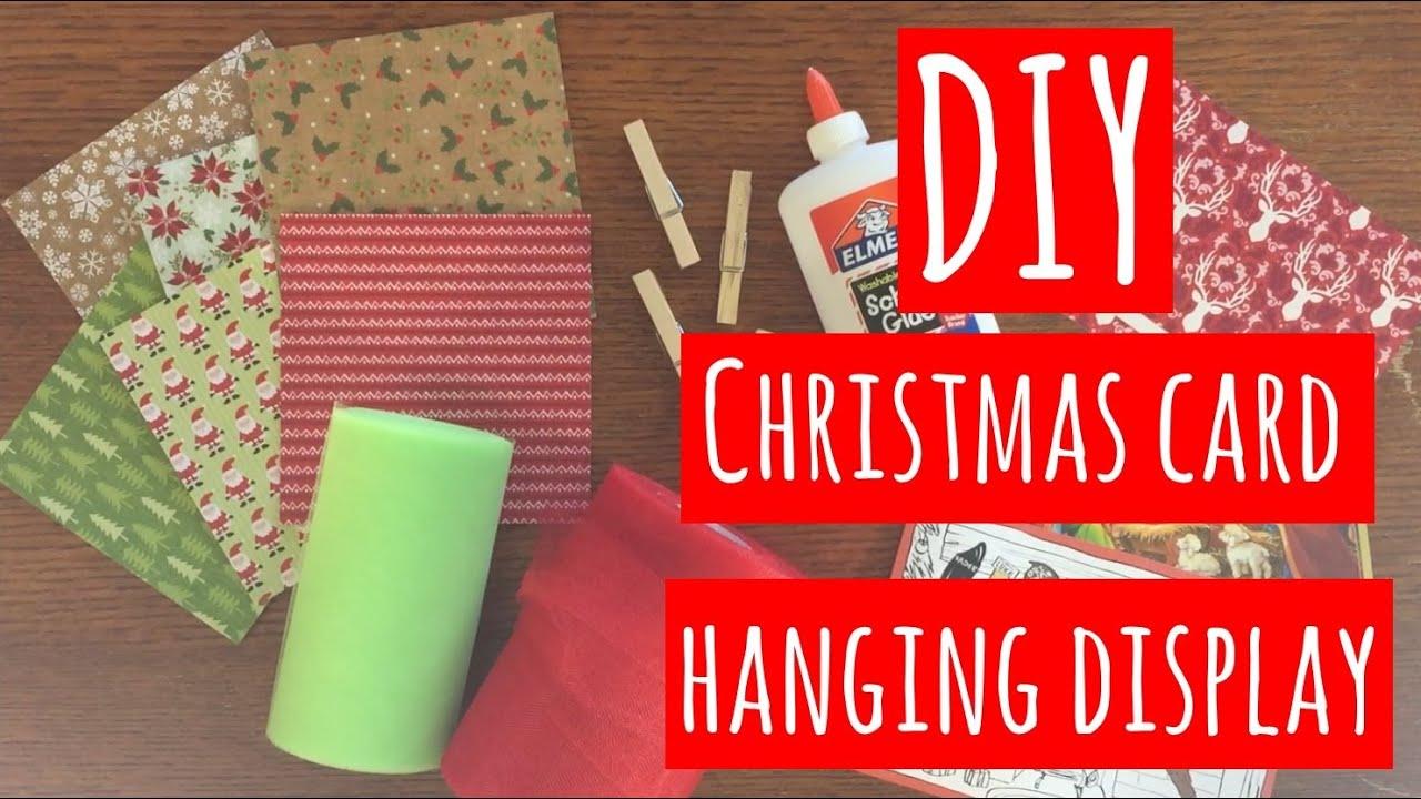 Diy christmas card hanging display youtube