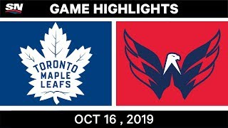 NHL Highlights | Maple Leafs vs Capitals - Oct 16 2019