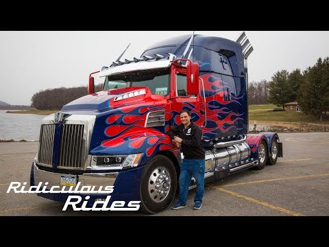 Worlds First Fan-Built Optimus Prime | RIDICULOUS RIDES