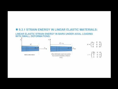 9 3 1 Expressions for the Strain Energy in Linear Elastic Materials done