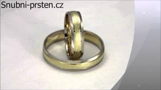 46d9ee5ed Trick Stones - matované snubní prsteny se zirkonem
