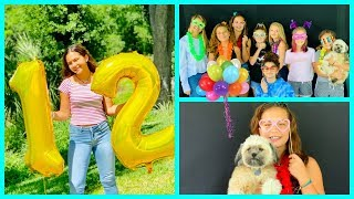 MY OFFICIAL 12TH BIRTHDAY PARTY  | SISTERFOREVERVLOGS #480