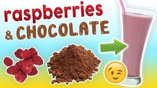 RASPBERRY CHOCOLATE SMOOTHIE   Breakfast Smoothie   Healthy Smoothie Recipes #45 - GoheRove2
