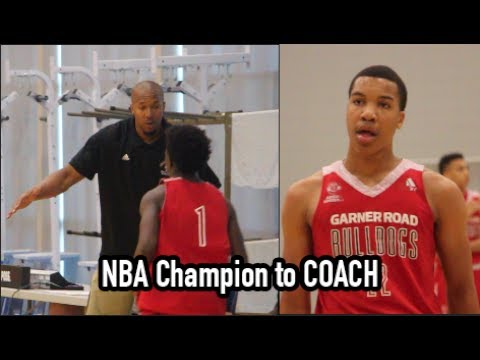 NBA Champion David West Coaches Garner Road 15U to Adidas Final Four win over D1 Minnesota!