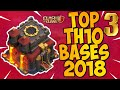 NEW TOP 3 TOWN HALL 10 FARMING/TROPHY BASES 2018! TH10 HYBRID DARK BASE UPDATE! -CLASH OF CLANS(COC)