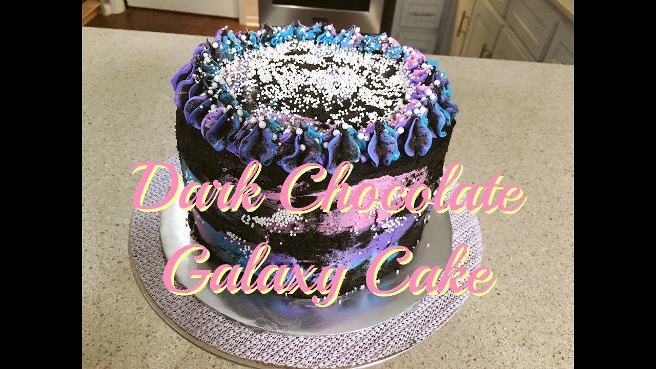 Dark Chocolate Galaxy Cake Courtneys Cakes Youtube