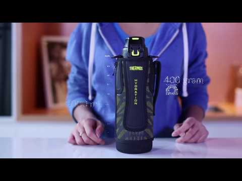 Thermos FFZ-1001 F: Sports Bottle For Adults With Stylish Sling Pouch