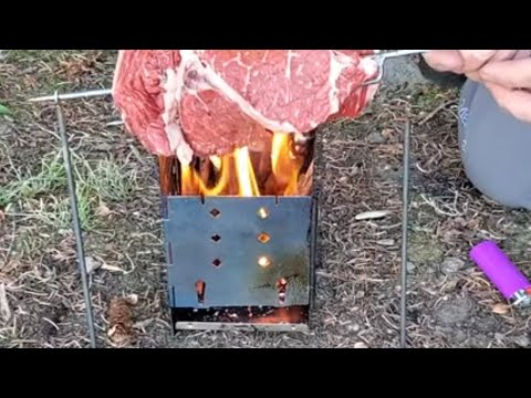 Firebox Stove Cooking! Goats & Dogs Backpacking Camping Wilderness Lake Trout Fishing (full Trip)