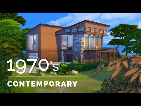 Sims 4     Decade Build Series     1970s Contemporary
