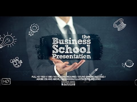 businessschoolcollege presentation — after effects project, Presentation templates