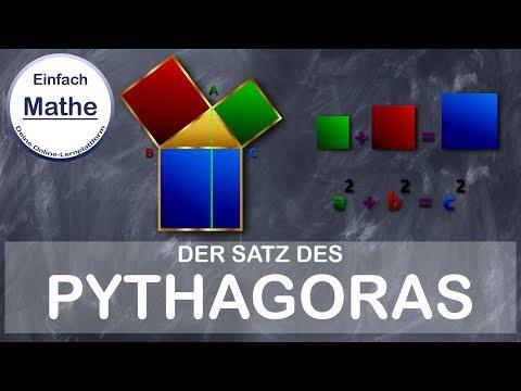 satz des pythagoras erkl rung und beispiel by einfach mathe youtube. Black Bedroom Furniture Sets. Home Design Ideas