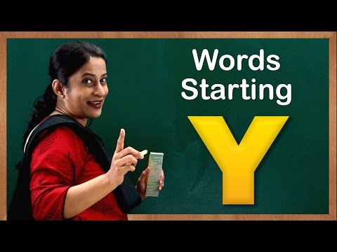 Learn Words Starting with Y | Flash Cards – Words Starting With Letter y | Toddler Words With Y