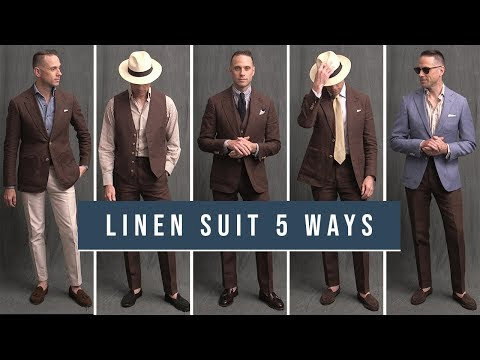 5-ways-to-wear-a-linen-suit-|-how-to-wear-a-brown-linen-suit