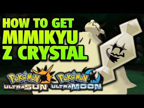 How To Get Mimikyu Z Crystal Location – Pokemon Ultra Sun And Moon Mimikium Z Location
