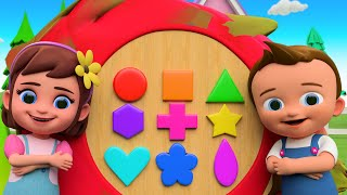 Learning Shapes for Children with Little Babies Fun Play with Dragon Fruit Shapes Toy Set 3D Video