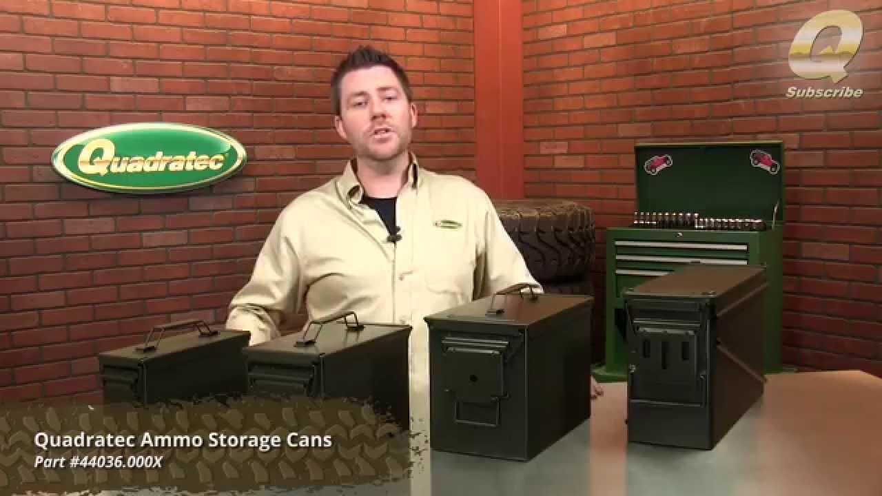 Quadratec Ammo Storage Cans Youtube