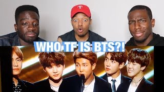 AMERICANS REACT TO WHO IS BTS  (PART 1)