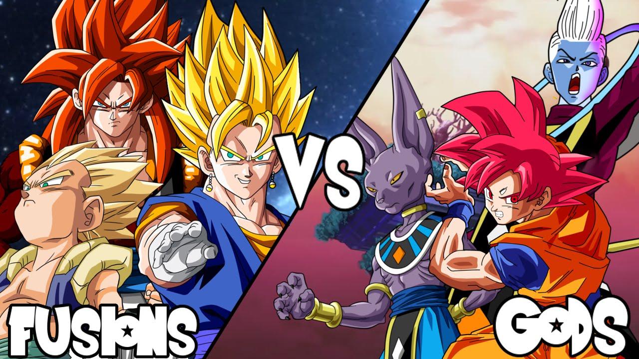 Team Fusion VS Team God (Xenoverse: Vegito, SSJ4 Gogeta ...