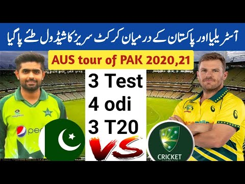 Australia Tour Of Pakistan Confirm Schedule 2020 || Australia Vs Pakistan Series Schedule