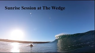 Super Clean Waves at The Wedge | Sunrise Session | POV
