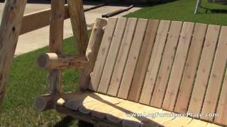 How to build a log yard swing woodworking projects plans for Log swing plans