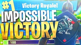 the MOST IMPOSSIBLE VICTORY in Fortnite Battle Royale!
