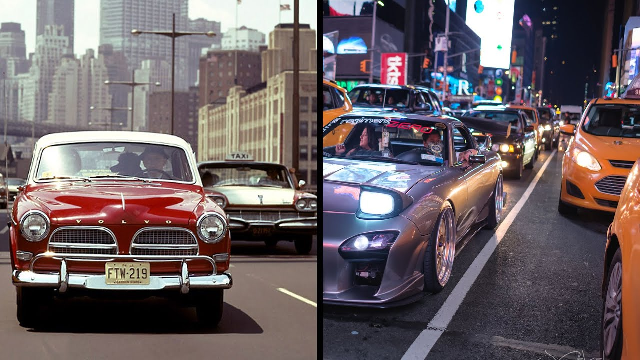 100 years Evolution of Traffic 1910s - 2010s