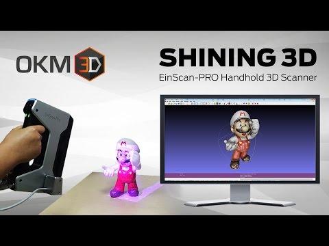 Shining 3D EinScan-Pro 3D Scanner -- kurzer Überblick zu den Features -- deutsch OKM3D