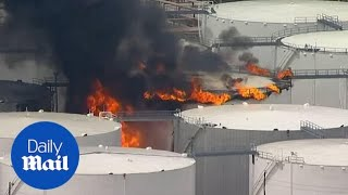 Massive fire breaks out at Texas petrochemicals terminal thumbnail