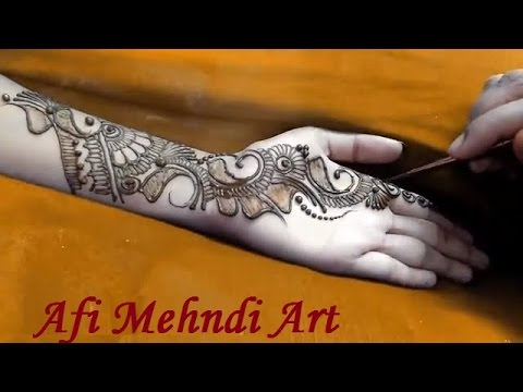 Mehndi Art Step By Step : Step by mehndi designs youtube