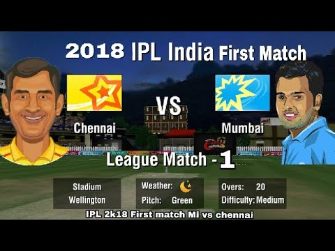 IPL Wcc2 Chennai (CSK) vs Mumbai Indian 2018 First Match