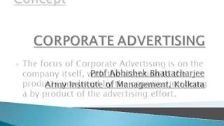 Corporate advertising